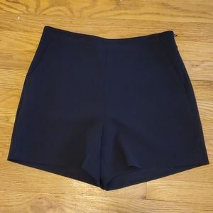 Ann Taylor black high-waisted dress shorts
